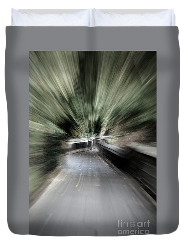 Nature Duvet Cover featuring the photograph Walk Warp by Skip Willits