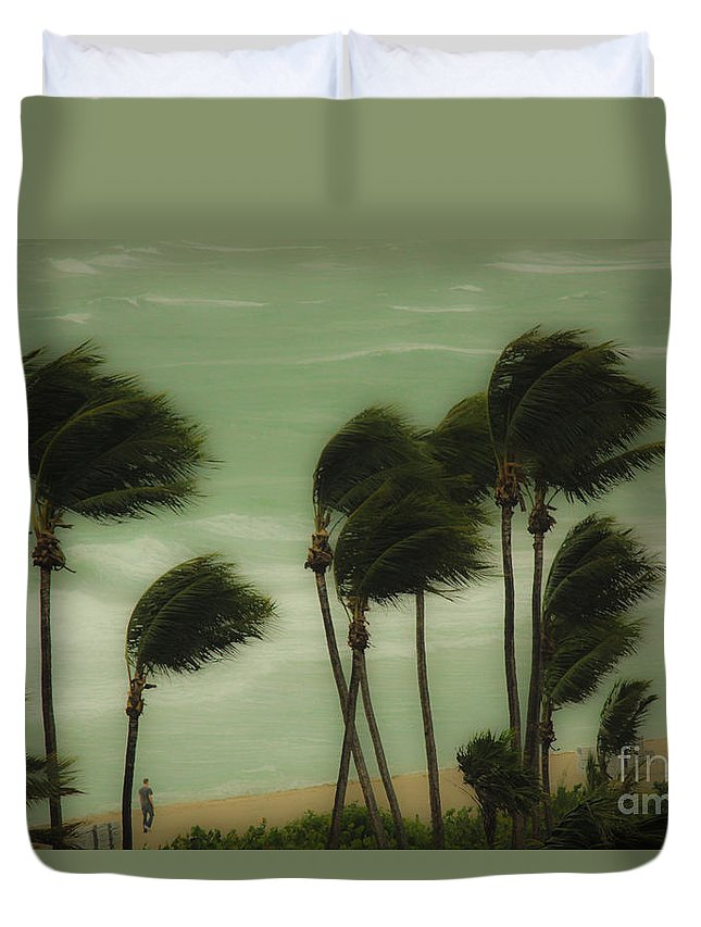 Wind Duvet Cover featuring the photograph Walking In The Wind by Rene Triay Photography