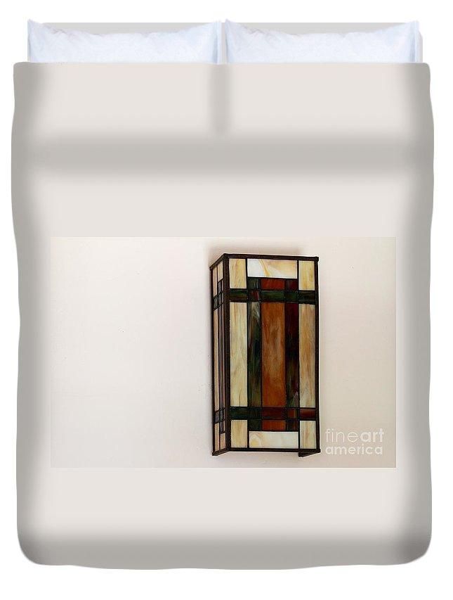 Lantern Duvet Cover featuring the photograph Wall Light by Henrik Lehnerer