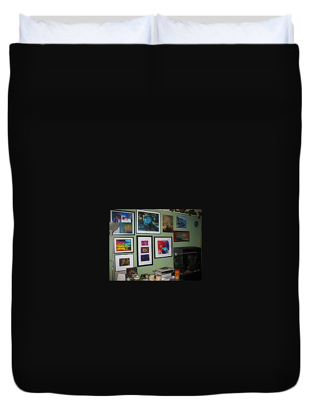 None Duvet Cover featuring the photograph Wall Of Framed by Peter Piatt