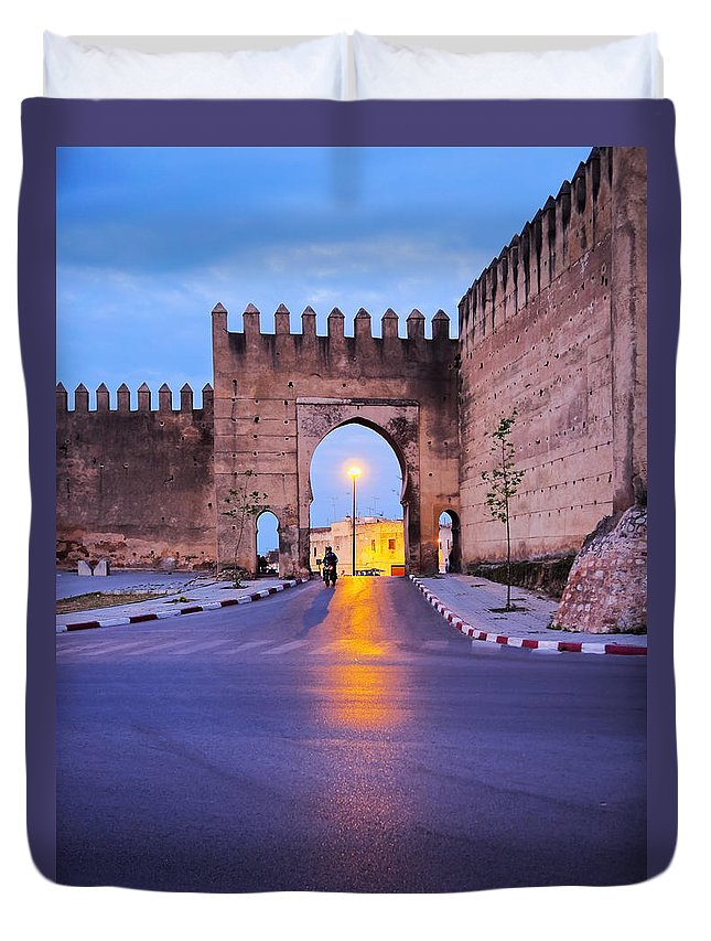 Africa Duvet Cover featuring the photograph Walls Of Fes In Morocco by Karol Kozlowski