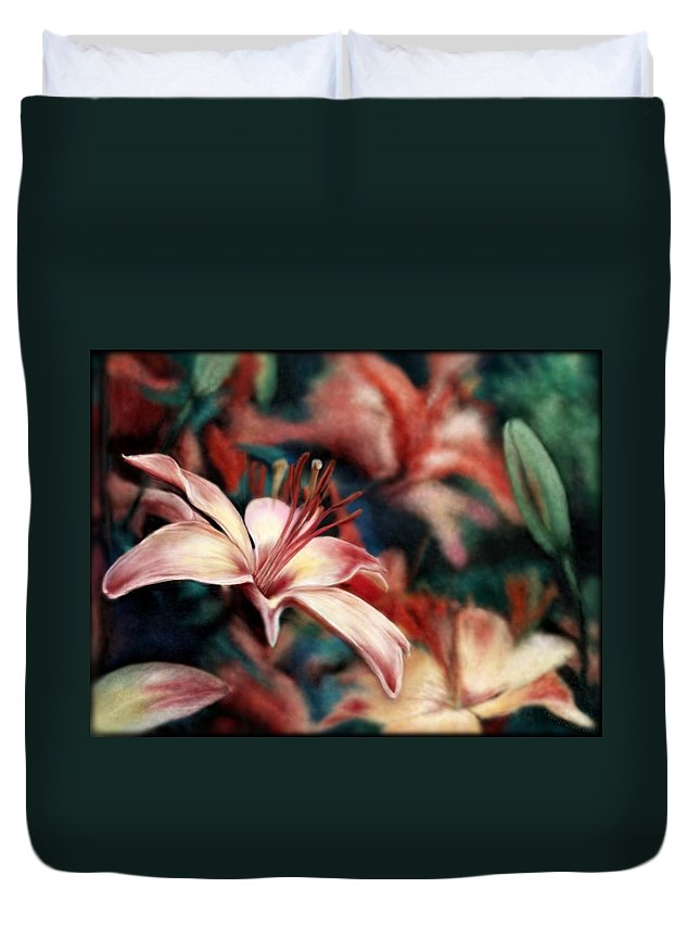 Floral Duvet Cover featuring the digital art War And Peace by Mary Eichert