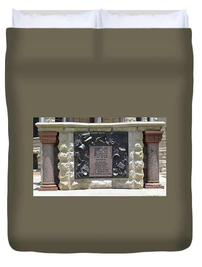 War Memorial Duvet Cover featuring the photograph War Memorial by Ruth Housley
