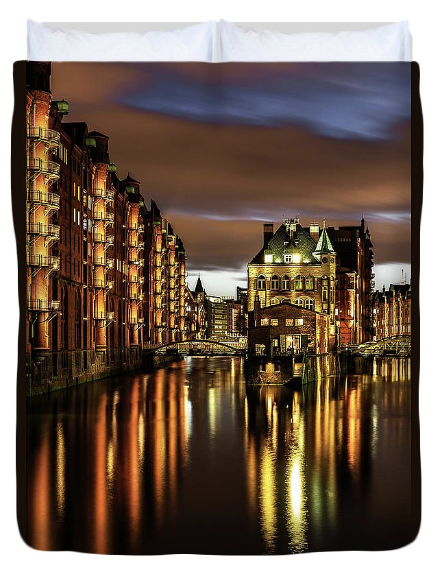 Trading Duvet Cover featuring the photograph Warehouse District by Achim Thomae