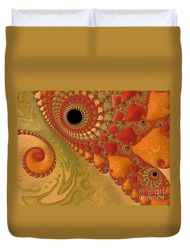 Background Duvet Cover featuring the photograph Warm And Earthy by Heidi Smith