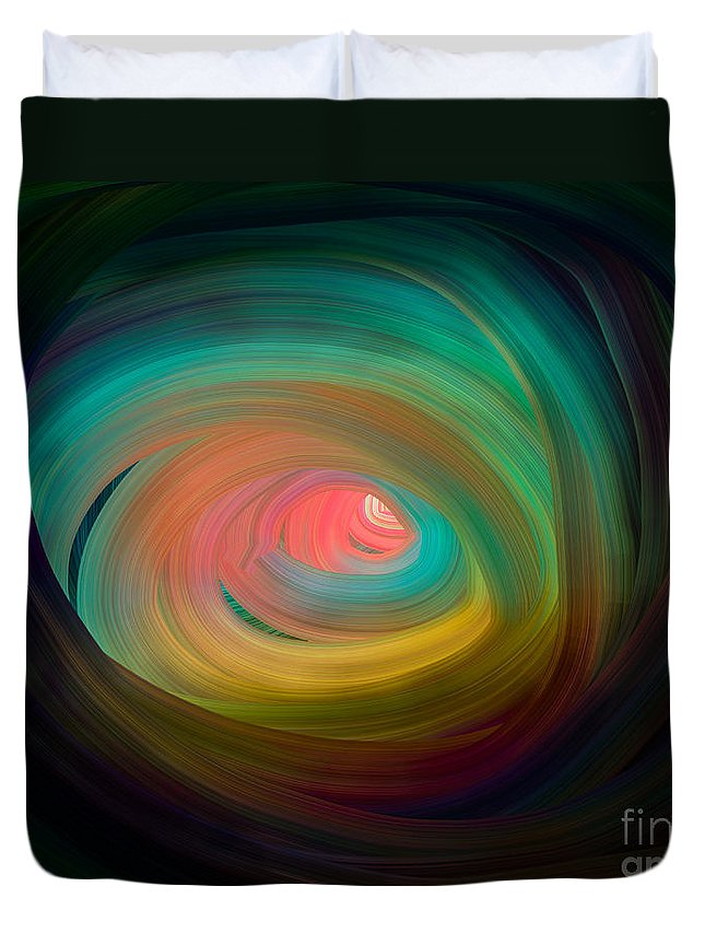 Wormhole Duvet Cover featuring the digital art Wormhole by Julio Haro