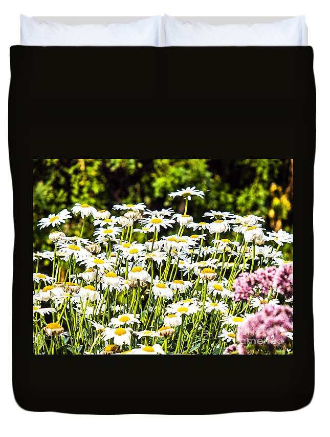Queen's Garden Duvet Cover featuring the photograph Wascana-80 by David Fabian