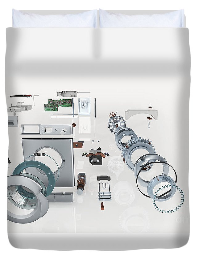 Washing Machine Exploded View Duvet Cover For Sale By Nikid