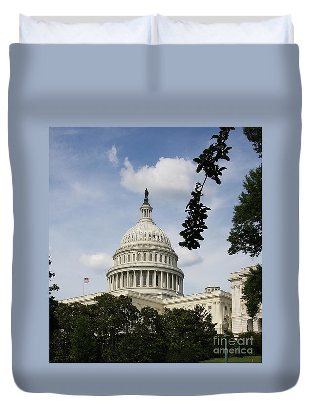 Capitol Duvet Cover featuring the photograph Washington Dc Capitol Dome by Christiane Schulze Art And Photography