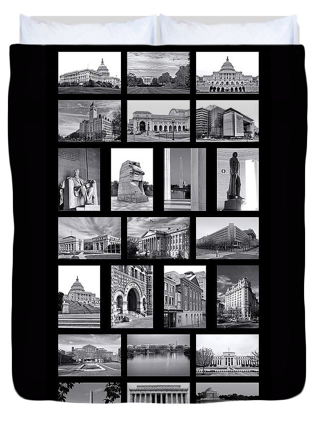Washington Duvet Cover featuring the photograph Washington Dc Poster by Olivier Le Queinec