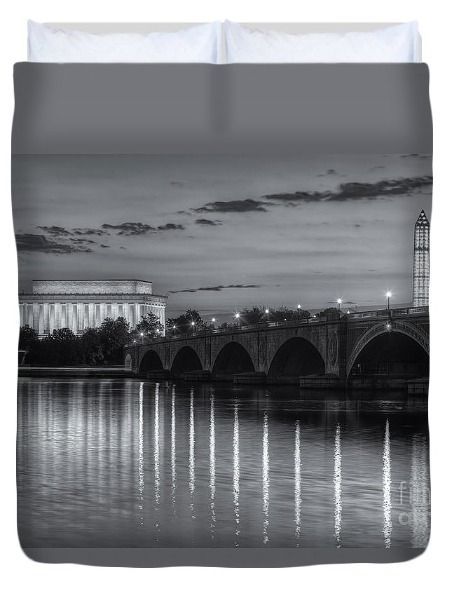 Clarence Holmes Duvet Cover featuring the photograph Washington Landmarks At Dawn II by Clarence Holmes