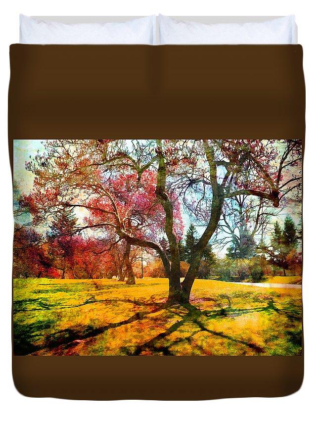 Albany Duvet Cover featuring the photograph Washington Park I by Tina Baxter