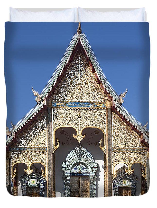 Thailand Duvet Cover featuring the photograph Wat Sri Don Chai Phra Wiharn Dthcm0084 by Gerry Gantt