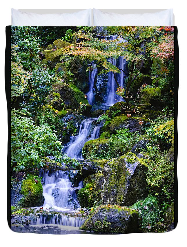 Waterfall Duvet Cover featuring the photograph Water Fall by Dennis Reagan