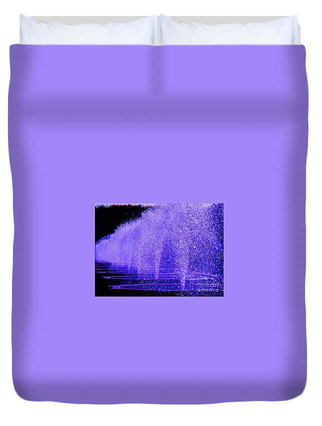 Fountain Duvet Cover featuring the photograph Water Fountain by Eric Schiabor