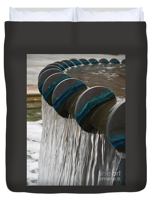Water Duvet Cover featuring the photograph Water Fountain Natural Art In Progress by Robin Maria Pedrero