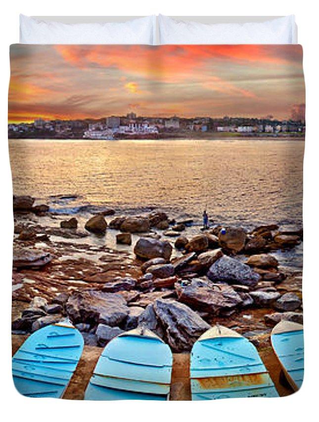 Sydney Duvet Cover featuring the photograph Water Guardians by Az Jackson