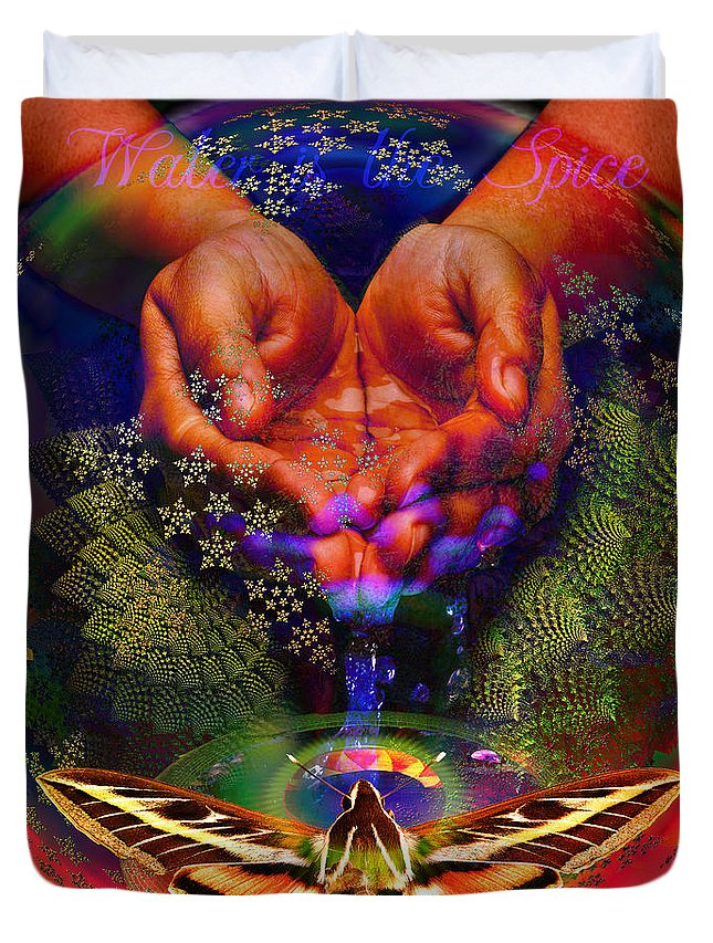 Safe Drinking Water Duvet Cover featuring the digital art Water Is The Spice by Joseph Mosley