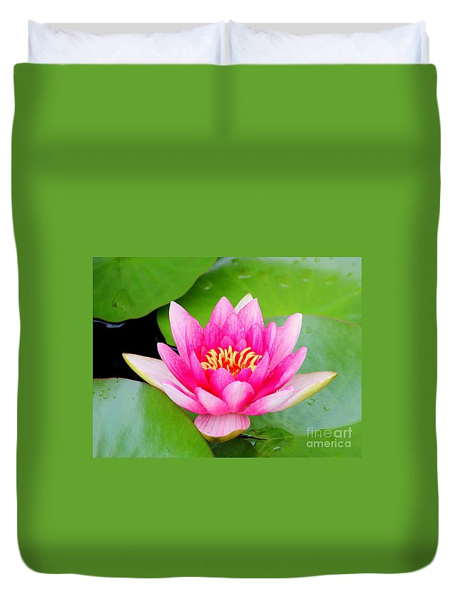 Blossom Duvet Cover featuring the photograph Water Lily by Amanda Mohler