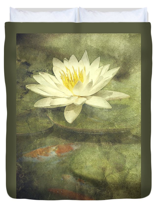 Water Lily Duvet Cover featuring the photograph Water Lily by Scott Norris