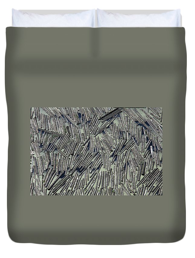 Water Duvet Cover featuring the photograph Water Logged by John Ferrante