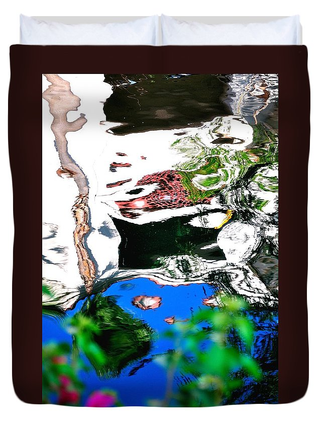 Water Duvet Cover featuring the photograph Water Reflection 29354 by Jerry Sodorff