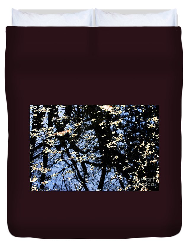 Reflection Duvet Cover featuring the photograph Water Reflections by Nancy Mueller