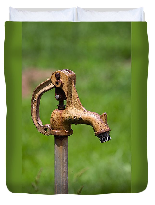 Water Spicket Duvet Cover featuring the photograph Water Spicket Or Spigot by Christy Cox