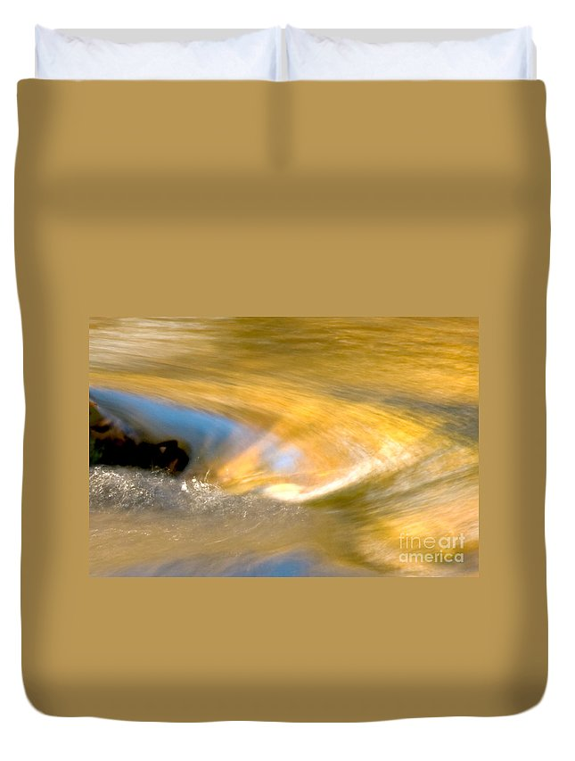 Water Duvet Cover featuring the photograph Water Swirl by Optical Playground By MP Ray