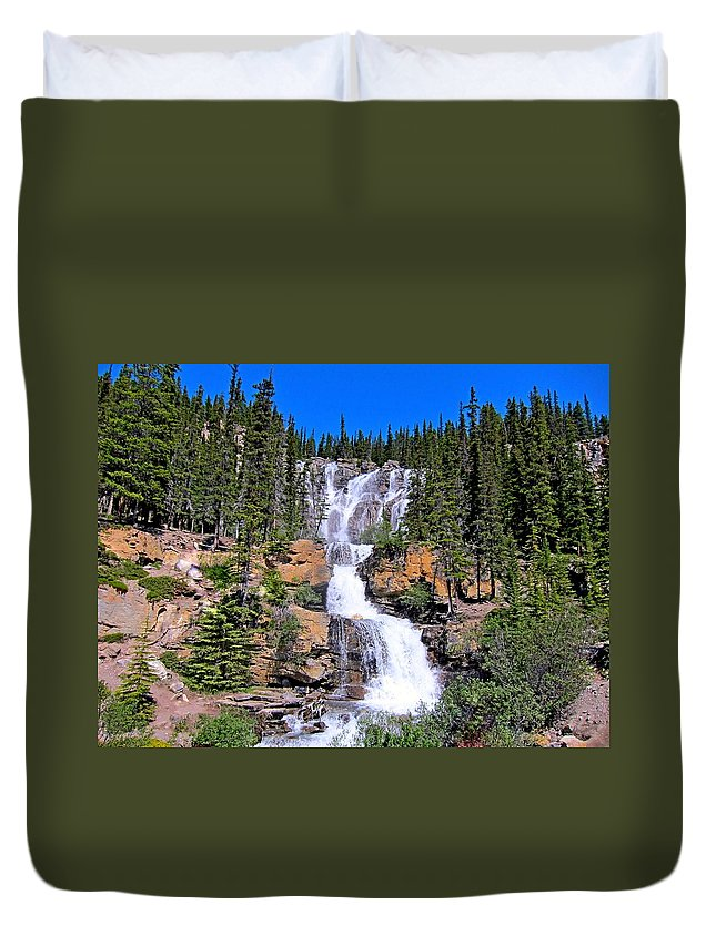 Water Duvet Cover featuring the photograph Water Water And More Water Hence Waterfall by Lena Photo Art