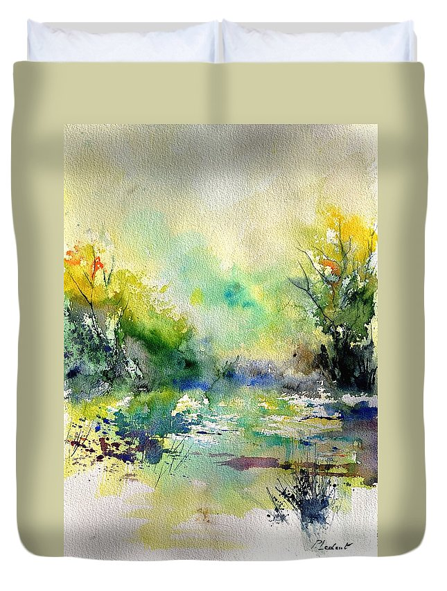 Lanscape Duvet Cover featuring the painting Watercolor 45319041 by Pol Ledent