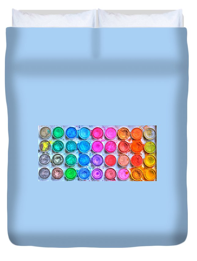 Paint Duvet Cover featuring the photograph Watercolor by Heidi Smith