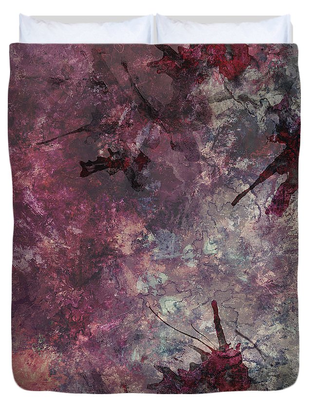 Abstract Duvet Cover featuring the painting Watercolor by Vanessa GF