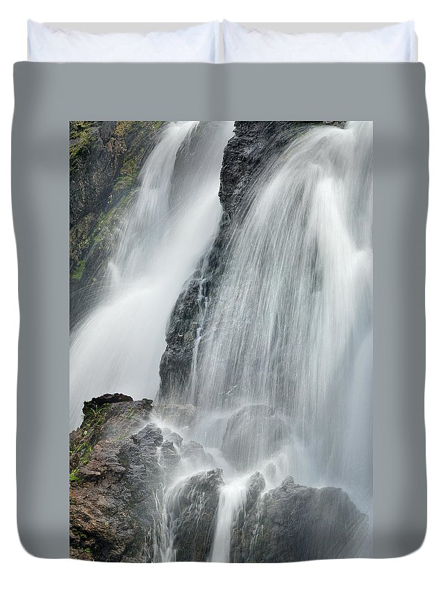 Water Duvet Cover featuring the photograph Waterfall In Spring by Guido Montanes Castillo