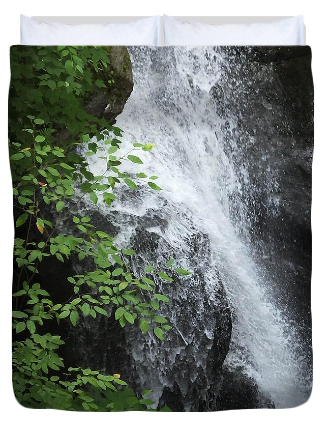 New York State Duvet Cover featuring the photograph Waterfall Mine Kill State Park New York by Lizi Beard-Ward
