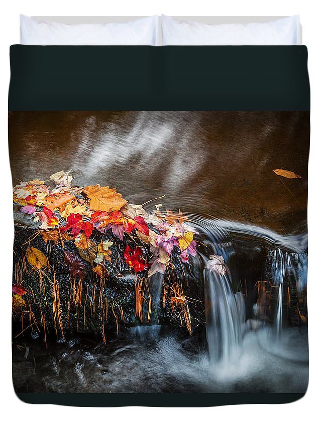 Waterfalls Duvet Cover featuring the photograph Waterfalls Childs National Park Painted  by Rich Franco