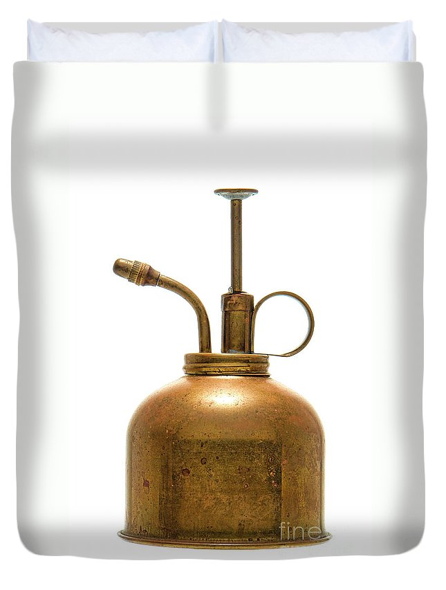 Can Duvet Cover featuring the photograph Watering Can by Olivier Le Queinec