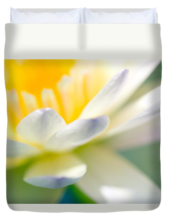 Floral Duvet Cover featuring the photograph Waterlily Dreams 9 by Priya Ghose