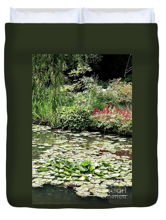 Waterlily Duvet Cover featuring the photograph Waterlily Pond Giverney by Christiane Schulze Art And Photography