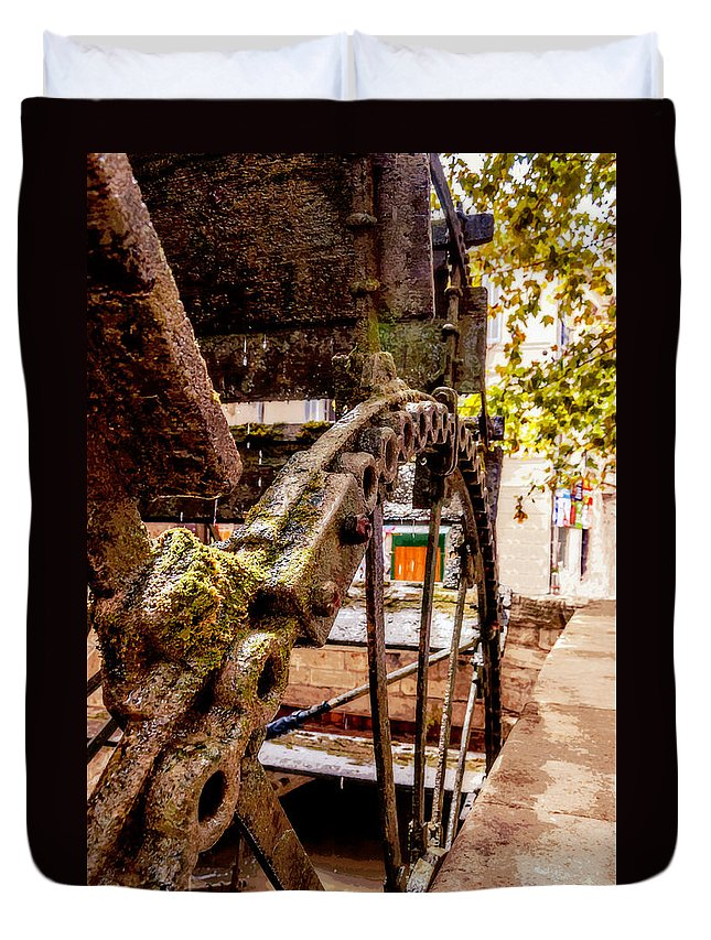 Water Mill Duvet Cover featuring the photograph Watermill by Yevgeni Kacnelson
