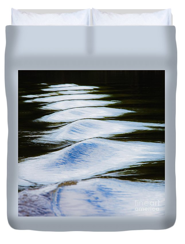 Ripples Duvet Cover featuring the photograph Watermountains by Casper Cammeraat