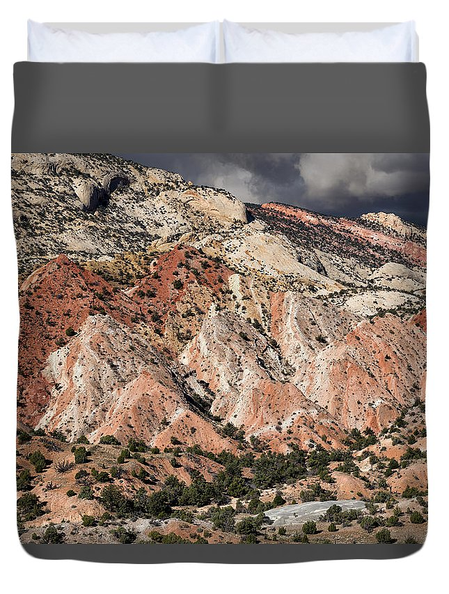 Capitol Reef National Park Duvet Cover featuring the photograph Waterpocket Fold by Kathleen Bishop