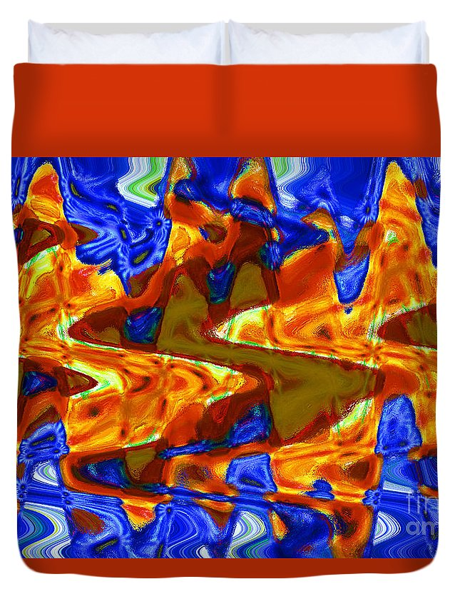 Abstract Duvet Cover featuring the digital art Waves 3 by Michael Anthony