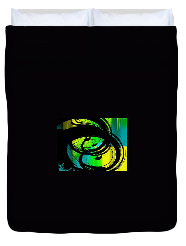 Waving Duvet Cover featuring the digital art Waving 2 by Kristi Kruse