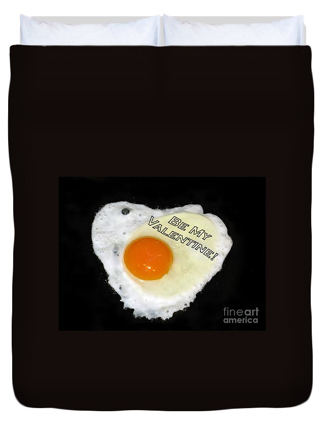 Egg And Pepper Duvet Cover featuring the photograph We Are Like Egg And Pepper. Be My Valentine by Ausra Huntington nee Paulauskaite