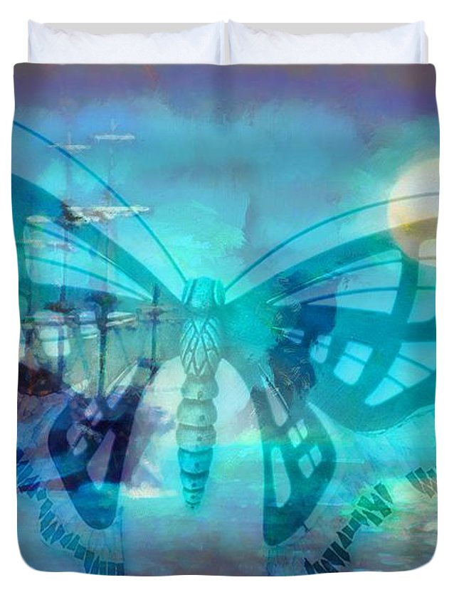 Weather The Storm Duvet Cover featuring the digital art Weather The Storm by Catherine Lott
