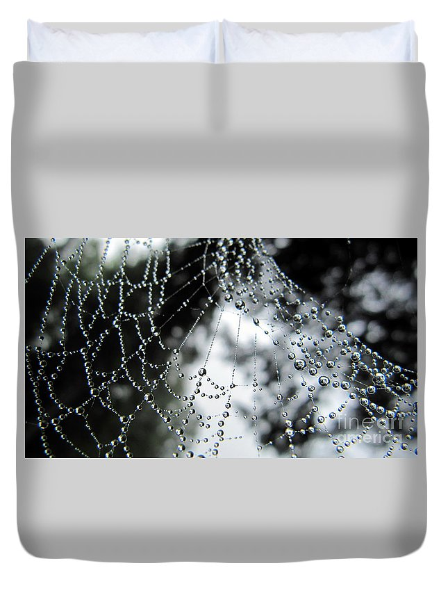 Summer Duvet Cover featuring the photograph Stringing Me Along by Jaunine Roberts