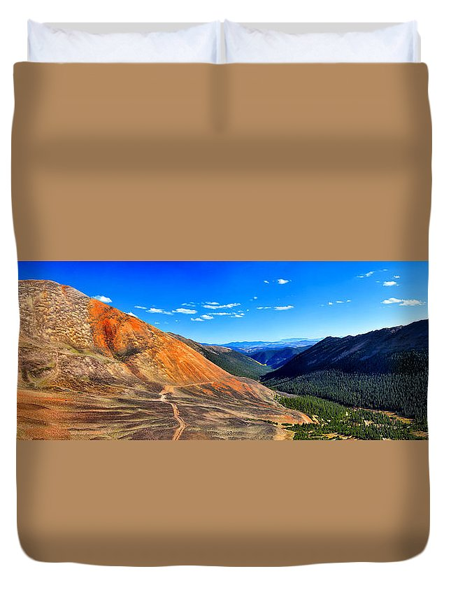 Webster Pass Colorado Duvet Cover featuring the photograph Webster Pass Colorado by OLena Art Lena Owens