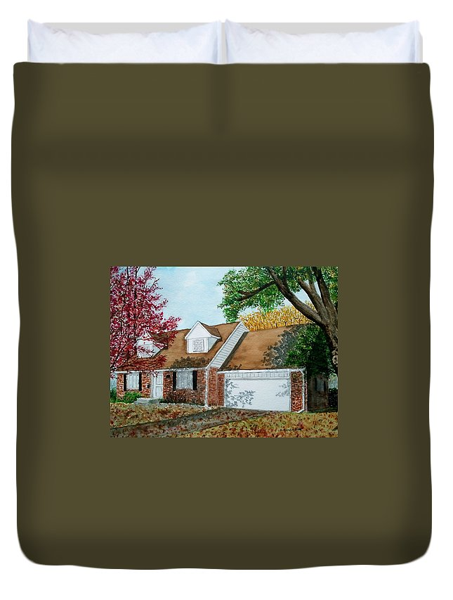 Home Duvet Cover featuring the painting Wedding Present by B Kathleen Fannin