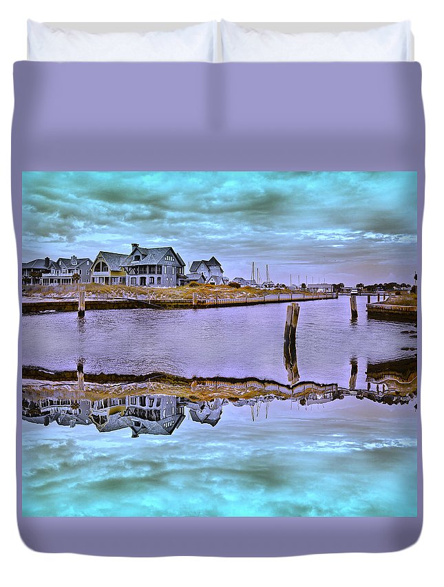 Bald Duvet Cover featuring the photograph Welcome To Bald Head Island II by Betsy Knapp